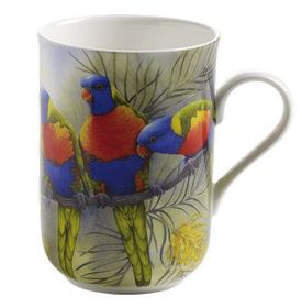 Maxwell and Williams - Lorikeets Decal Mug - 300ml - Multi-Coloured