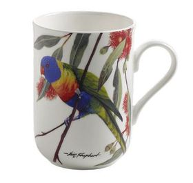 Maxwell and Williams - Rainbow Lorikeets Decal Mug - 300ml - White