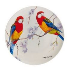 Maxwell and Williams - Eric Shepherd Eastern Rosellas Decal Cake Plate - 20cm White