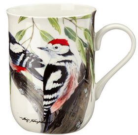 Maxwell and Williams - Eric Shepherd Spot Woodpecker Decal Mug - 300ml - White