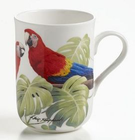 Maxwell and Williams - Eric Shepherd Scarlet Macaws Decal Mug - 300ml - White