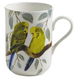 Maxwell and Williams - Eric Shepherd Budgerigars Decal Mug - 300ml - White