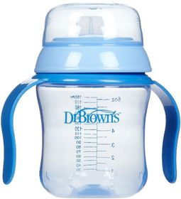 Dr.Brown's - 170ml Soft Spout Training Cup - Blue
