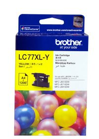 Brother LC77XL-Y Yellow Ink Cartridge