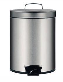 Brabantia - Pedal Bin With Inner Plastic Bucket - 5 Litre - Brilliant Steel