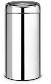 Brabantia - Twin Bin With Plastic Buckets - 2 x 20 Litre - Brilliant Steel