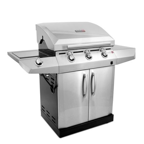 Char-Broil - 3 Burner Tru-Infrared Grill 500IN2 - Stainless Steel ...