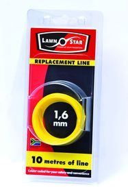 Lawn Star - 1.6 mm x 10m Replacement Coil Line - Single Pre-Pack