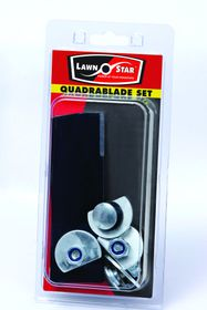 Lawn Star - Quadrablade Replacement Lawnmower Blade Set