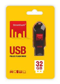 Strontium 32GB Pollex Flash Drive - Black