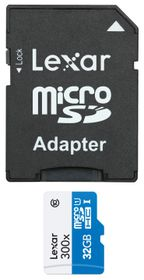 Lexar 32GB 300x Micro SD Card with SD Adapter