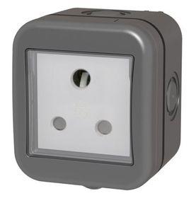 Stingray - IP55 Single SA Socket - Grey