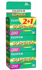 Fujifilm Superia 200 ASA 135-36 Carded Negative Colour Film Three Pack
