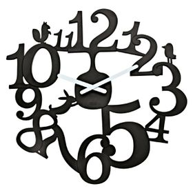 Koziol - Pi:P Wall Clock - Black
