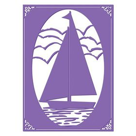 "Couture Creations The Harmony 5 x 7"" Embossing Folder – Sail Away"