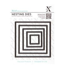 Xcut Nesting Dies - Square 5 Piece Set