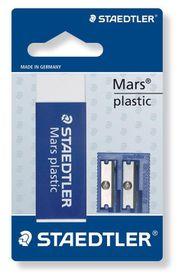 Staedtler Mars Eraser and Double-Hole Plastic Sharpener