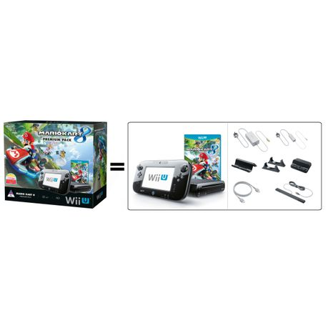 fbab50ace90 Wii U Console Black 32GB Premium Pack + Mario Kart 8 (Wii U) | Buy Online  in South Africa | takealot.com