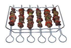 LK's Kebab Grill Set of 6 Skewers - Chrome