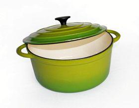 LK's - Round Casserole - Green -2L