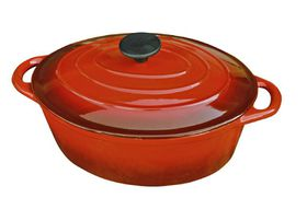 LK's - Oval Casserole - Red - 4L