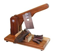 LK's - Biltong Slicer - Teak and Rosewood