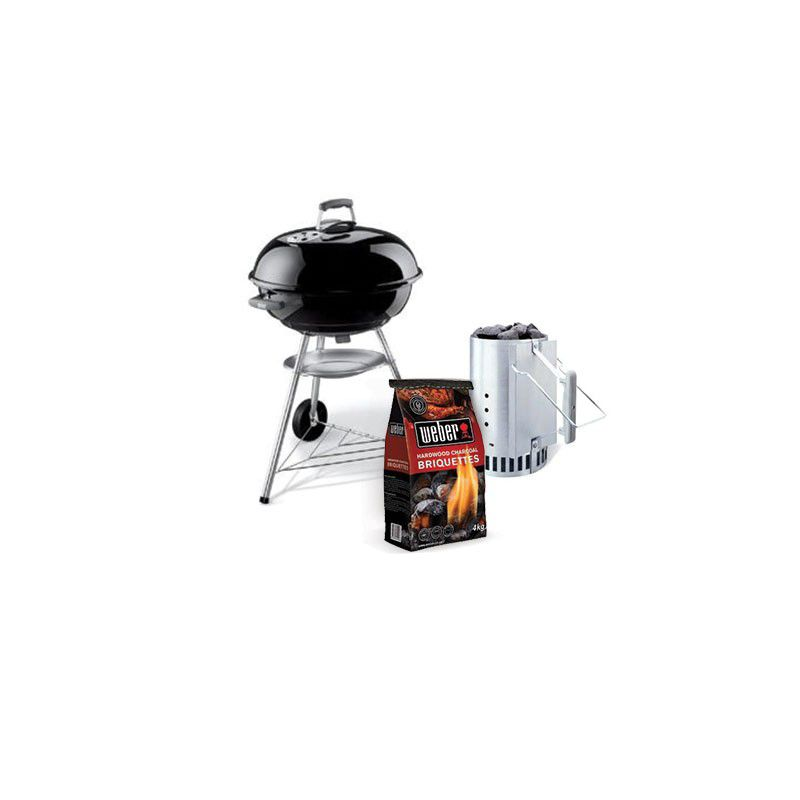 weber compact 57cm charcoal kettle grill bundle buy online in south africa. Black Bedroom Furniture Sets. Home Design Ideas