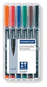 Staedtler Lumocolor 6 Permanent Superfine Markers