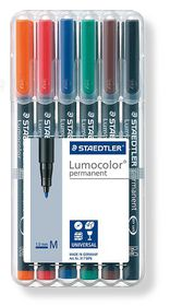 Staedtler Lumocolor 6 Permanent Medium Markers