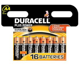 Duracell Plus Power AA Batteries - 16 Pack