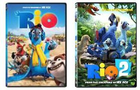 Rio 1 & 2 Double Pack (DVD)