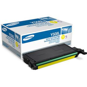 Samsung CLT-Y508L Yellow Laser Toner Cartridge