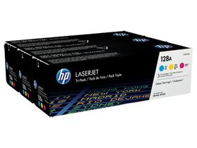 HP 128A 3-Pack Cyan/Magenta/Yellow LaserJet Toner Cartridges