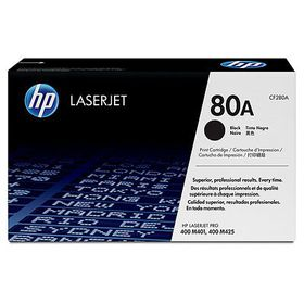 HP 80A Black LaserJet Toner Cartridge with Smart Printing Technology