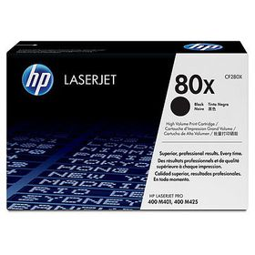HP 80X Black LaserJet Toner Cartridge with Smart Printing Technology