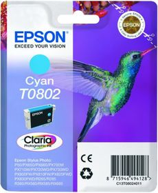 Epson T0802 Cyan Claria Photographic Ink Cartridge