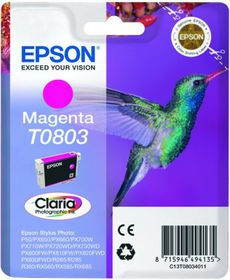 Epson T0803 Magenta Claria Photographic Ink Cartridge