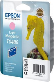 Epson T0486 Light Magenta Ink Cartridge (Sea Horse)