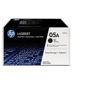 HP 05A Black Laser Toner Cartridges - Dual Pack
