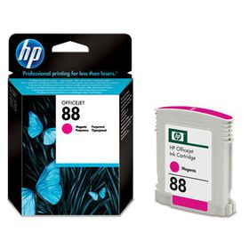 HP 88 Magenta Officejet Ink Cartridge - Magenta, 1000pg, 70g