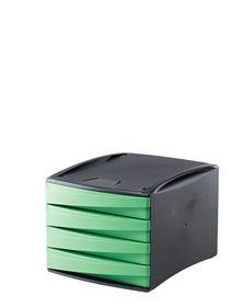 Fellowes Green2Desk 4 Drawer - Green