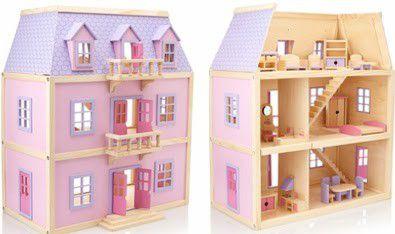 Melissa U0026 Doug Multi Level Wooden Dollhouse