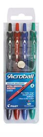 Pilot Acroball Ballpoint Pens (Wallet of 4 Basic Colours)