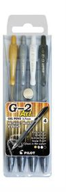 Pilot G2 0.7mm Art Gel Pens - Wallet of 4 Colours