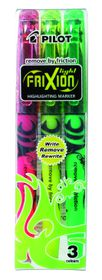 Pilot Frixion Light Erasable Highlighters - Wallet of 3 Colours