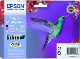 Epson T0807 Claria Photographic Ink Cartridges Multipack