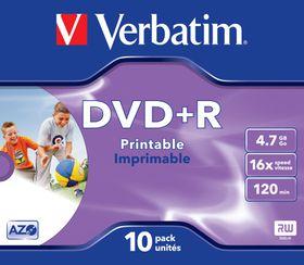 Verbatim DVD+R Wide Inkjet Printable ID Brand