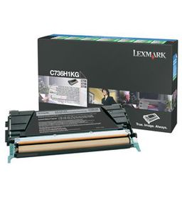 Lexmark C736H1KG High Yield Black Laser Toner Cartridge
