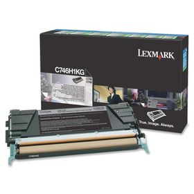 Lexmark C746H1KG High Yield Black Laser Toner Cartridge