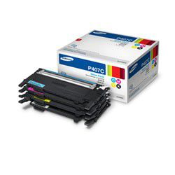 Samsung CLT-P407C CMYK Laser Toner Cartridges - Value Pack